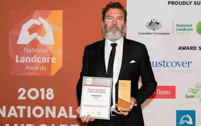 Charlie Arnott wins Bob Hawke Landcare Award