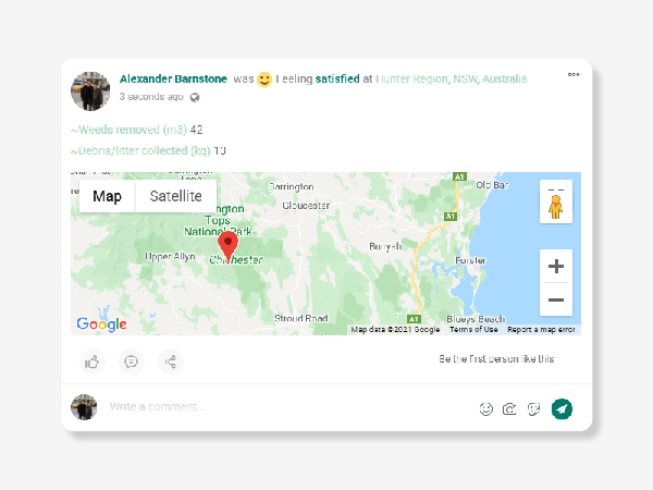 Landcarer Map Record your data