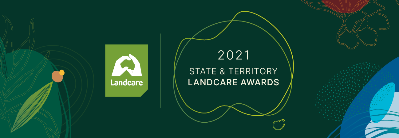 Logo for awards program on green background
