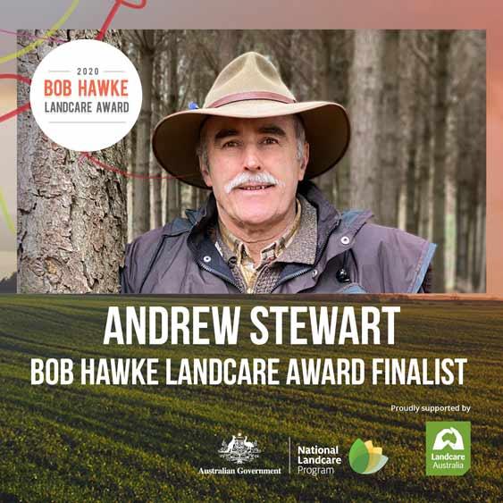 Andrew Stewart Announced As Bob Hawke Landcare Award Finalist