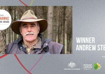 Corangamite landholder's 50,000 tree and shrub eco plan wins Bob Hawke Landcare Award