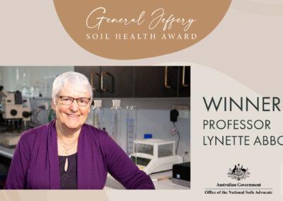 University of Western Australia academic wins General Jeffery Soil Health Award