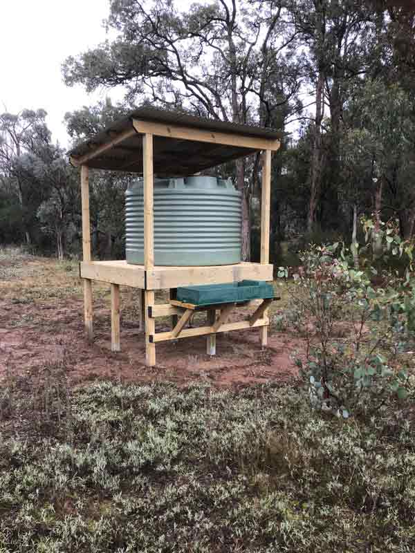 Bird watering station in the Capertee Valley